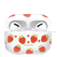 Чехол Kingxbar Fruit для Apple Airpods Pro Strawberry